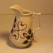 Clinchfield Pottery Creamer with Dogwood Pattern