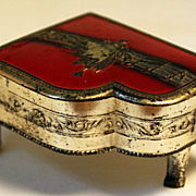Small Baby Grand Piano Jewelry Box, Stamped KL, Made in Occupied Japan