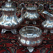 SALE Cooper & Fisher 4 Piece  Coin Silver Tea Service