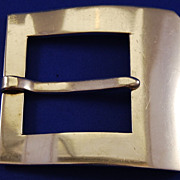 SALE Giant Fortino Mota Sterling Buckle, Taxco