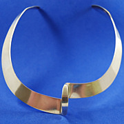 SALE Highly Stylized Sterling Choker by Jondell Mexico