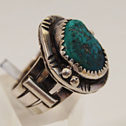 SALE Sarah Chee Turquoise and Sterling Ring