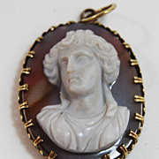 SALE Hardstone Cameo of Diana