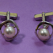 SALE Mikimoto14K and Akoya Pearl Cufflinks
