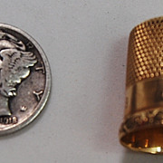 SALE 14kt Gold Thimble