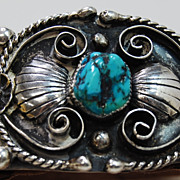 SALE Sterling and Turquoise Bracelet by Navajo Henry Baca