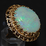 SALE 14K and Opal Ring - Gorgeous Opal