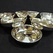 William Waldo Dodge set of Six Butter Dishes