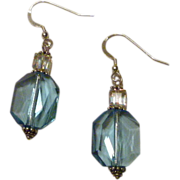 Aqua Blue Crystal Earrings - Calm Waters