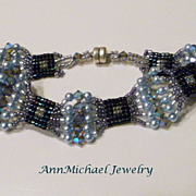 SALE Blue Waves- Crystal Bracelet