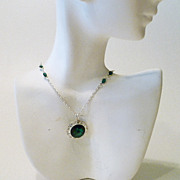 Swarovski Emerald Green Crystal Pendant Necklace