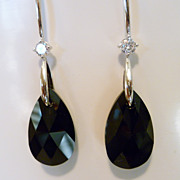 Black Crystal Teardrop Earrings