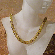 SOLD Woven In Gold - Crystal Rope Necklace