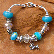 REDUCED European Style Zodiac Charm Bracelet - Aries (interchangeable)