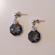 Swarovski Octagon Crystal Earrings