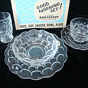 Yorktown Crystal by Federal, Good Morning Set - 5 piece breakfast place setting