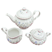 SALE Johnson Brothers' Summer Chintz teapot, creamer & sugar