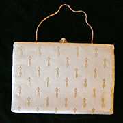 Cream Satin 'After Five' Evening Bag