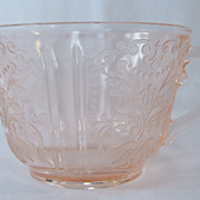 """American Sweetheart"" Pink Cup, Depression Glass"