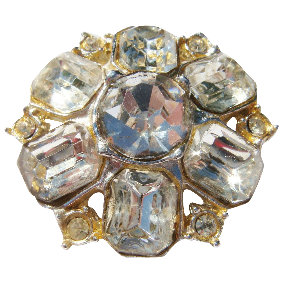 Rhinestone crystal pin:  1 ½""