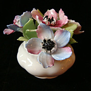 Royal Albert Bone China Anemones March Flowerpot Figurine