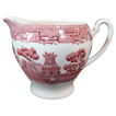 "Alfred Meakin ""Old Willow"" Red Pink Creamer"