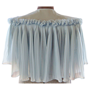 50s Gray-Blue Vanity Fair Nylon Bed Jacket