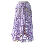 Purple Crochet Skirt for the Modern Hippie!
