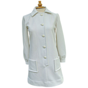 Mod White Double-knit Miniskirt Dress
