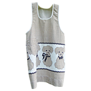 Child's Apron, Puppies in Brown Gingham
