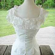 Victorian Camisole with Tucks, Lace Inserts & Lace Ruffles