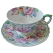 Crown Staffordshire Bone China Footed Cup & Saucer Set, Pattern 15227