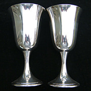 2 Gorham colonial silverplate goblets, 6 1/2""