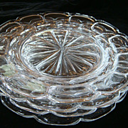 "REDUCED Set 4 Fostoria HFM Argus Crystal 8"" Plates"