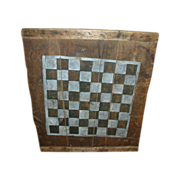 Antique Primitive Original Paint Checkerboard Game Board