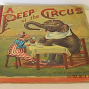 REDUCED 1887 McLoughlin Bros; Children's Book; A Peep at the Circus