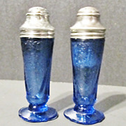SALE Depression Glass: Hazel Atlas Glass Company: Royal Lace: Salt & Pepper Shakers, Pair: ...