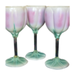 Newman Ceramic Works Three Pottery Tulip Goblets Retired