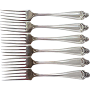 Rockford S.P. Co. Set of 6 Luncheon Forks HAWTHORN Pattern 1908