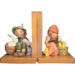 Hummel 61/A & 61/B Playmates & Chick Girl  Bookends TMK3