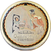 Mackintoshs Quality Street TOFFEE TIN with wrapper & paper liner