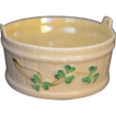 BELLEEK Shamrock Small Open Salt Tub D1565 Third Black Mark 1926 to 1946