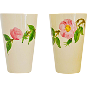 Franciscan Desert Rose Set of Two 10oz Tumblers USA circa 1979