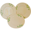 Belleek SHAMROCK Three Side Plates 2nd Black Mark and 1st Green Mark