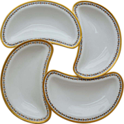 Haviland & Co  Limoges Bone Dishes Set of Four circa 1893 to 1930