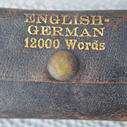LILIPUT English-German Miniature Dictionary circa 1925.