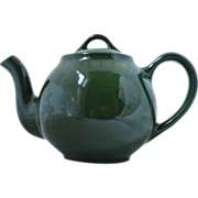 Vintage Hall China 6-Cup LIPTON�S TEA Green Advertising Teapot