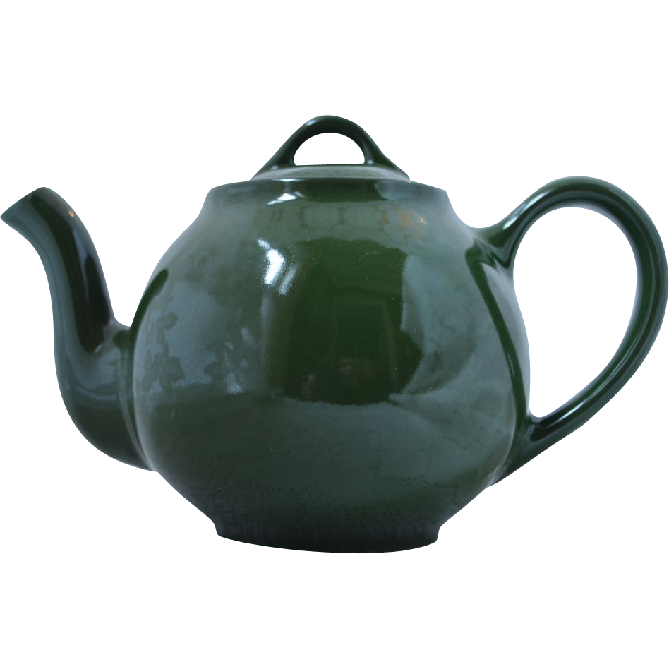 Vintage Hall China 6-Cup LIPTON'S TEA Green Advertising Teapot
