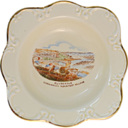 Crown Devon souvenir bowl MOUSEHOLE Cornwall 1913 to 1930