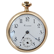 Crown Watch Co pocket watch in Philadelphia Watch Co Case 1910-1923